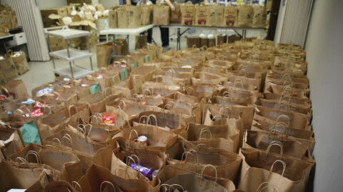 130 Families Blessed with Thanksgivng Groceries